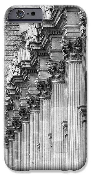 IPhone 6s Case featuring the photograph Louvre Pillars, Paris, 2015 by Hitendra SINKAR