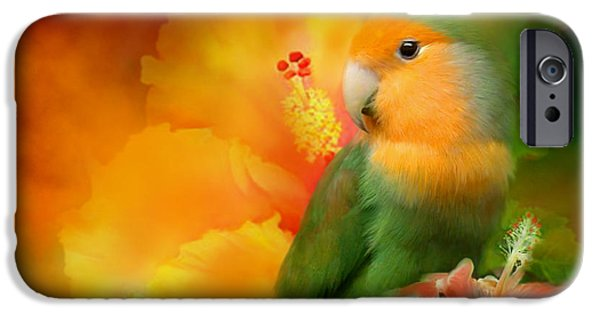 Parrot iPhone 6s Case - Love Among The Hibiscus by Carol Cavalaris