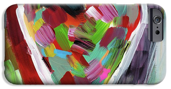 Contemporary iPhone 6s Case - Love Is Colorful 3- Art By Linda Woods by Linda Woods