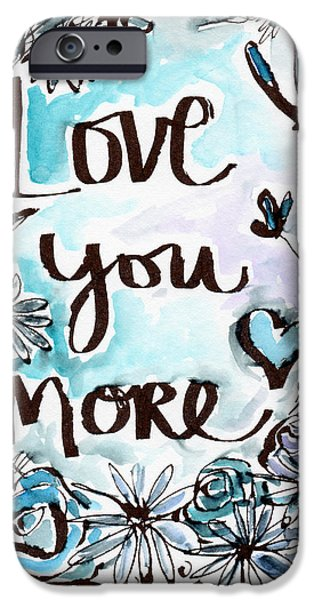 Daisy iPhone 6s Case - Love You More- Watercolor Art By Linda Woods by Linda Woods
