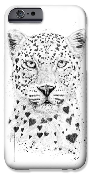Leopard iPhone 6s Case - Lovely Leopard by Balazs Solti