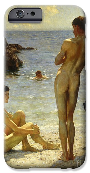 Swimming iPhone 6s Case - Lovers Of The Sun by Henry Scott Tuke