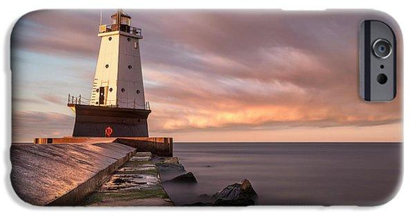 Marquette iPhone 6s Case - Ludington Light Sunrise Long Exposure by Adam Romanowicz