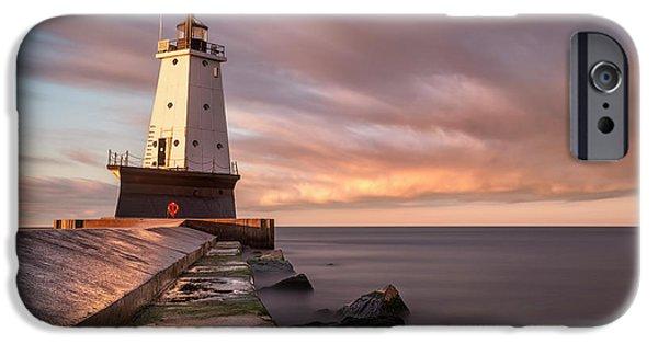 IPhone 6s Case featuring the photograph Ludington Light Sunrise Long Exposure by Adam Romanowicz