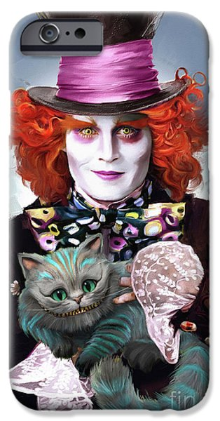Mad Hatter And Cheshire Cat IPhone 6s Case by Melanie D