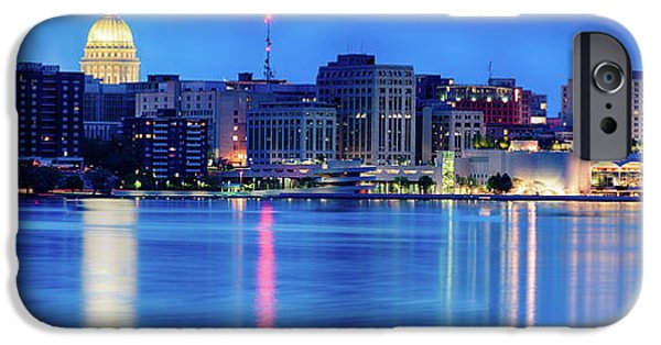 Capitol Building iPhone 6s Case - Madison Skyline Reflection by Sebastian Musial
