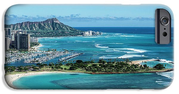 Helicopter iPhone 6s Case - Magic Island To Diamond Head by Sean Davey