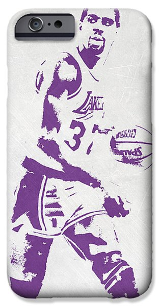 Magic Johnson Los Angeles Lakers Pixel Art IPhone 6s Case by Joe Hamilton