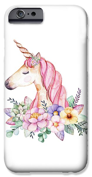 Magical Watercolor Unicorn IPhone 6s Case
