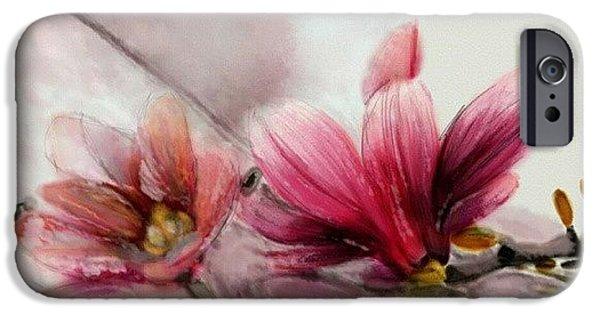 Magnolien .... IPhone 6s Case by Jacqueline Schreiber