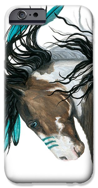 Horse iPhone 6s Case - Majestic Turquoise Horse by AmyLyn Bihrle