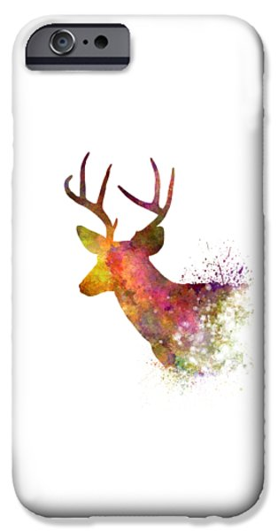 Male Deer 02 In Watercolor IPhone 6s Case by Pablo Romero