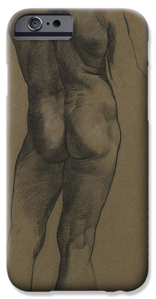 Male Nude Study IPhone Case by Evelyn De Morgan