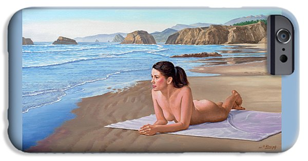 Nudes iPhone 6s Case - Mandy At The Beach by Paul Krapf