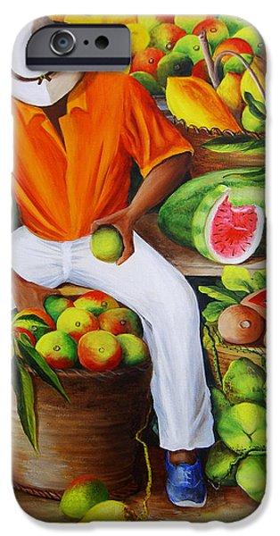 Manuel The Caribbean Fruit Vendor  IPhone 6s Case