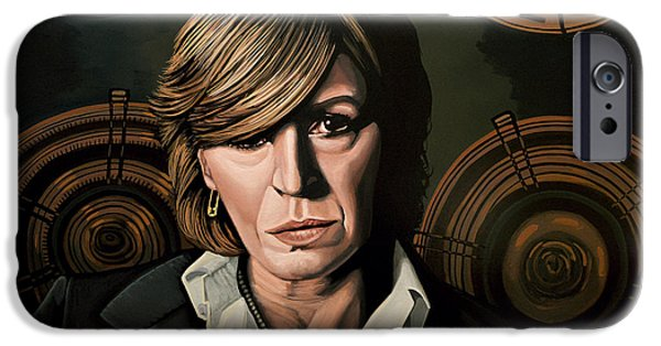 Musicians iPhone 6s Case - Marianne Faithfull Painting by Paul Meijering