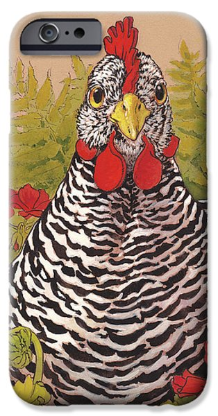 Chicken iPhone 6s Case - Matilda In The Geraniums by Tracie Thompson