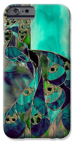 Peacock iPhone 6s Case - Mating Season Stained Glass Peacock by Mindy Sommers
