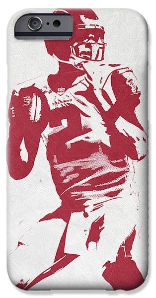 Matt Ryan Atlanta Falcons Pixel Art 2 IPhone 6s Case by Joe Hamilton