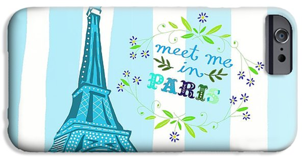 Meet Me In Paris IPhone 6s Case by Priscilla Wolfe