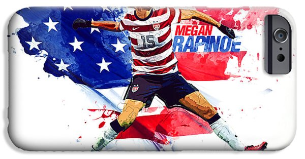 Megan Rapinoe IPhone 6s Case by Semih Yurdabak