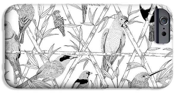 Menagerie Black And White IPhone 6s Case by Jacqueline Colley