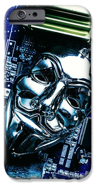 Metal Anonymous Mask On Motherboard IPhone 6s Case