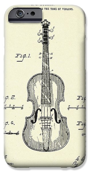 Violin iPhone 6s Case - Method Of Improving The Tone Of Violins-1888 by Pablo Romero