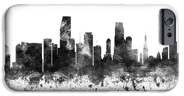 Miami Florida Cityscape 02bw IPhone 6s Case by Aged Pixel