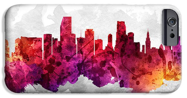 Miami Florida Cityscape 14 IPhone 6s Case by Aged Pixel