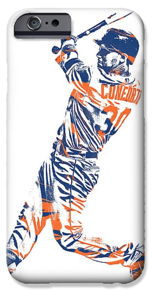 New York Mets iPhone 6s Case - Michael Conforto New York Mets Pixel Art 1 by Joe Hamilton