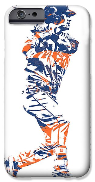 New York Mets iPhone 6s Case - Michael Conforto New York Mets Pixel Art 2 by Joe Hamilton