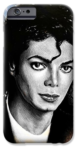 Coloured Pencil iPhone 6s Case - Michael Jackson Stamp Design by Andrew Read
