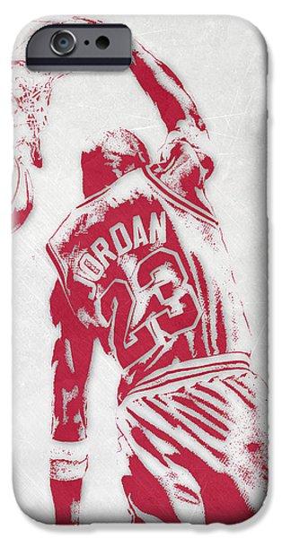 Michael Jordan Chicago Bulls Pixel Art 1 IPhone 6s Case by Joe Hamilton