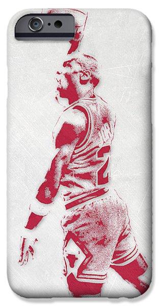 Michael Jordan Chicago Bulls Pixel Art 3 IPhone 6s Case by Joe Hamilton