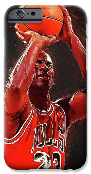 Larry Bird iPhone 6s Case - Michael Jordan by Semih Yurdabak
