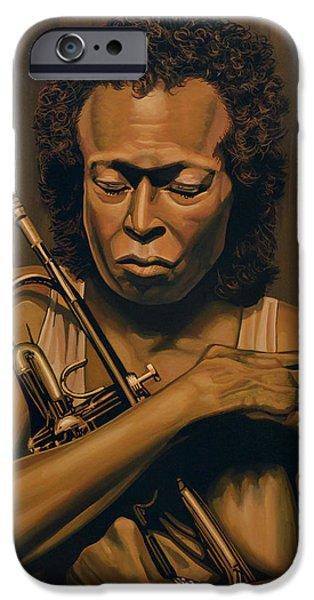 Trumpet iPhone 6s Case - Miles Davis Painting by Paul Meijering