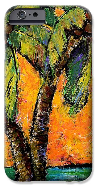 Mimosa Sky Palm IPhone Case by Blenda Studio