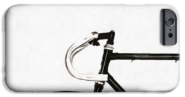 Bicycle iPhone 6s Case - Minimalist Bicycle Painting by Edward Fielding