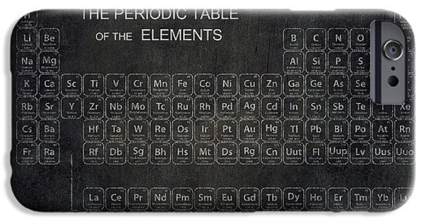 Minimalist Periodic Table IPhone 6s Case by Daniel Hagerman