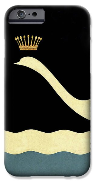 Minimalist Swan Queen Flying Crowned Swan IPhone 6s Case by Tina Lavoie