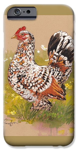 Chicken iPhone 6s Case - Miss Millie Fleur by Tracie Thompson