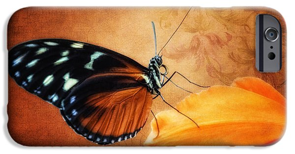 Monarch Butterfly On An Orchid Petal IPhone 6s Case by Tom Mc Nemar