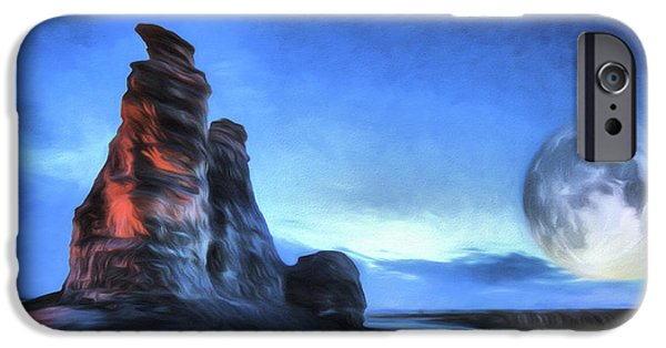 IPhone 6s Case featuring the digital art Moonrise Over Castle Rock by JC Findley