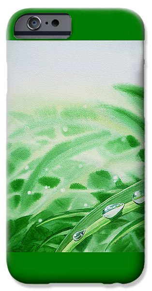 Morning Dew Drops IPhone Case by Irina Sztukowski