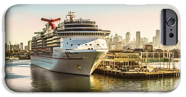 Cruise Ship iPhone 6s Case - Morning Port by Jorgo Photography - Wall Art Gallery