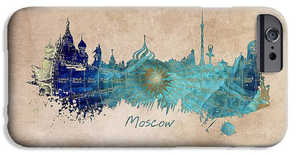 Moscow Skyline Wind Rose IPhone 6s Case