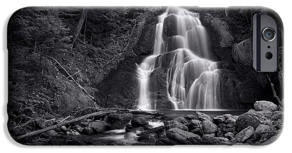 Landscapes iPhone 6s Case - Moss Glen Falls - Monochrome by Stephen Stookey