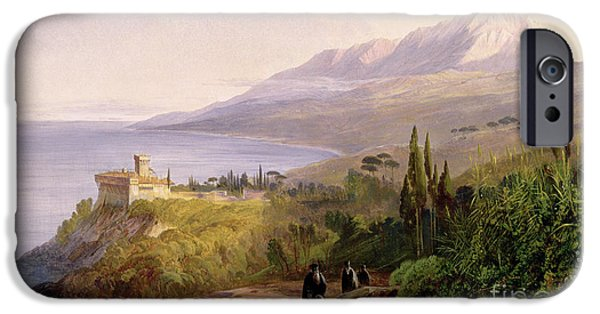 Mount Athos And The Monastery Of Stavroniketes IPhone 6s Case by Edward Lear