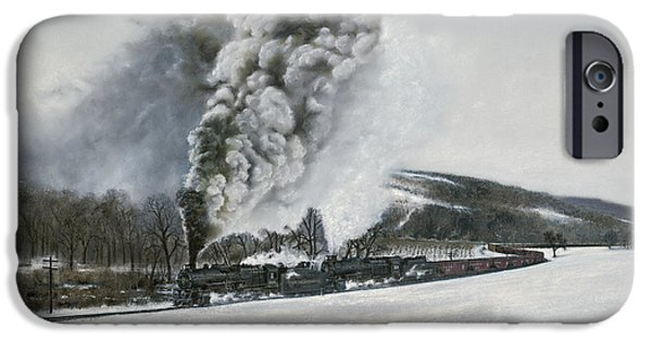Train iPhone 6s Case - Mount Carmel Eruption by David Mittner